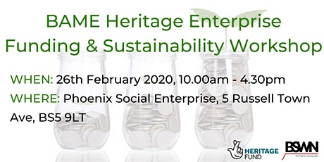 BAME Arts & Heritage Enterprise Funding and Sustainability Workshop  tickets