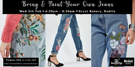 Bring & Paint Your Own Jeans - Sustainable Art Workshop tickets