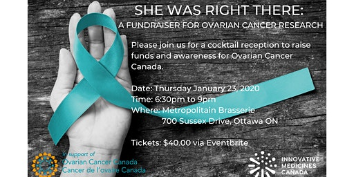 She Was Right There: a Fundraiser for Ovarian Cancer Research