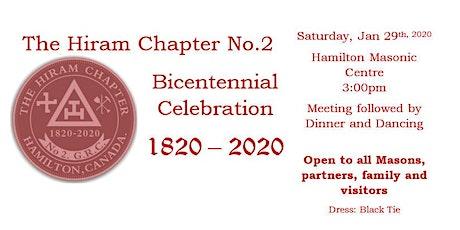 The Hiram Chapter No. 2 GRC - Bicentennial Celebration - Hamilton tickets