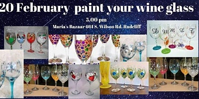 Paint your own wine glass and keep it.