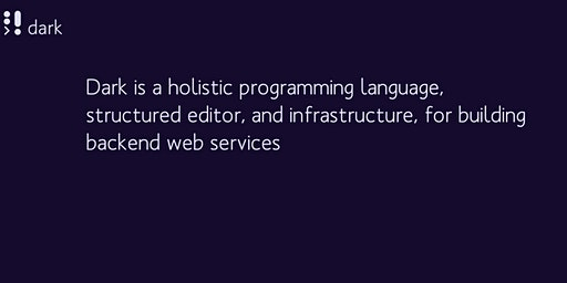 CLS: Dark - a holistic programming language