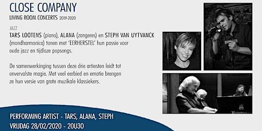 Close Company Living Room Concert - Tars Lootens, Alana, Steph