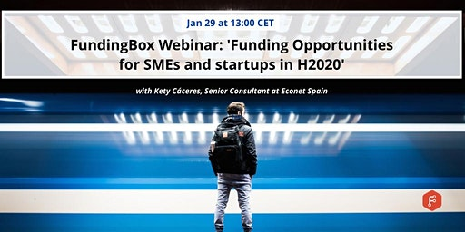 Webinar 'Funding opportunities for SMEs and Startups under H2020'
