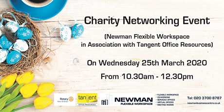 Charity Networking Event with Newman Flexible Workspace & Tangent Office tickets