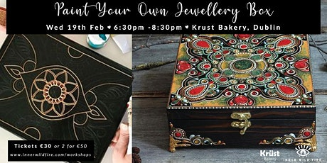 Paint Your Own Jewellery Box tickets