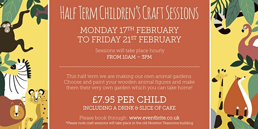 Half Term Children's Craft Sessions!