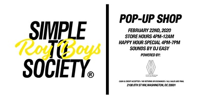 Simple To Society x Roy Boys Pop-Up Shop