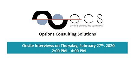 HIRING EVENT: Options Consulting Solutions tickets
