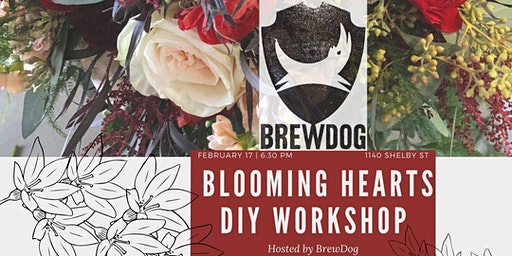 Blooming Hearts Flower Arranging @ BrewDogs (Pint Included)