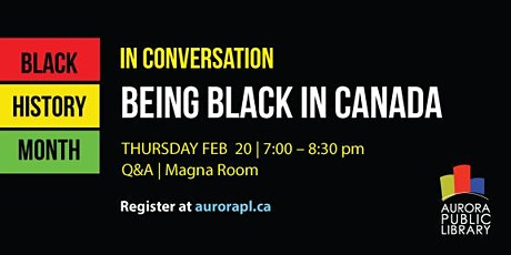 BEING BLACK IN CANADA tickets
