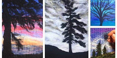 Felted Tree Landscape