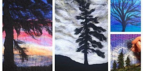 Felted Tree Landscape