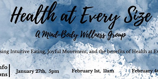 Health-At-Every-Size Therapy Group INFO SESSION