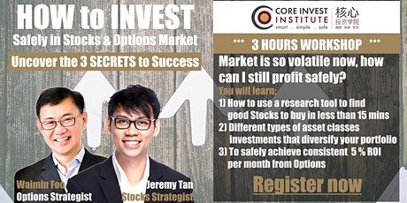 How to invest safely and profit consistently 3-5% a Month (ONLINE WEBINAR SHARING) KL tickets