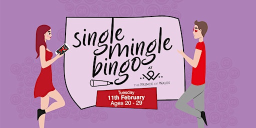 Single Mingle Bingo Ages 20 - 29