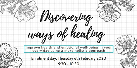 Discovering Ways of healing - Enrolment session tickets