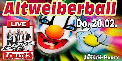 Altweiberball mit Man-Strip & Lollies live