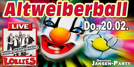 Altweiberball mit Man-Strip & Lollies live Tickets