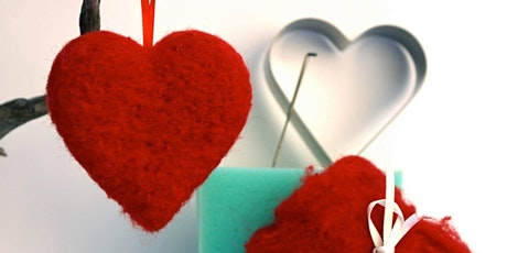 Needle Felted Heart: Family Craft Night tickets