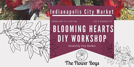 Blooming Hearts Flower Arranging @ Indianapolis  City Market