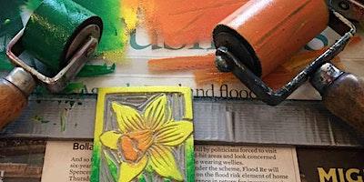 Printmaking workshop; Linocut, Monoprint and Drypo
