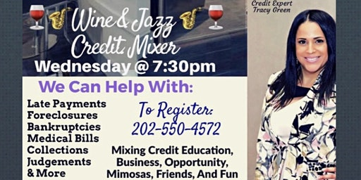 Wine & Jazz Credit Mixer/ Wednesday, January 22nd at  7:30pm / Laurel MD