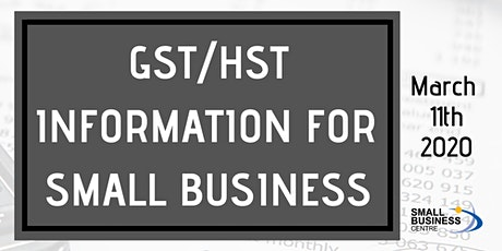 GST/HST Information for Small Business tickets