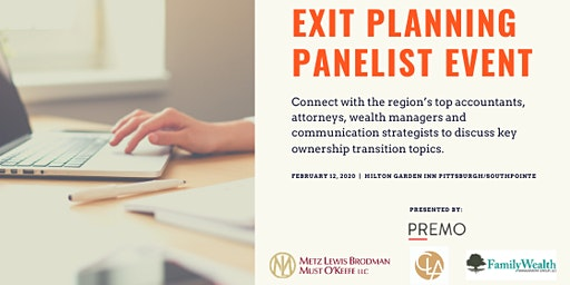 Exit Planning Panelist Event
