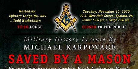 Saved by a Mason with Michael Karpovage tickets