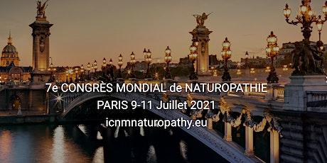 7e Congrès Mondial de Naturopathie ICNM 2022 billets