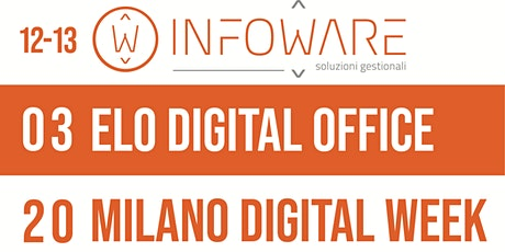 ELO Digital Office 4 Milano Digital Week 20 biglietti