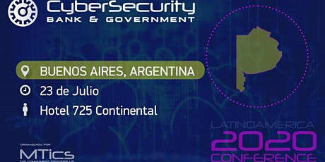 Cybersecurity Bank & Government Buenos Aires- Argentina entradas