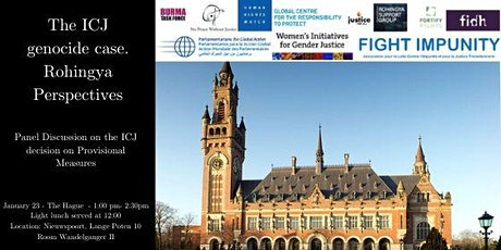 The ICJ genocide case. Rohingya Perspectives tickets