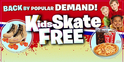 Kids Skate Free Sunday 1/26/2020 at 1pm (with this ticket)