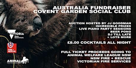 Australia Fundraiser at the Covent Garden Social Club tickets