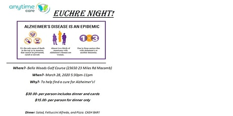 Walk to End ALZ-  Euchre Party tickets