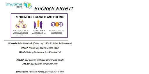 Walk to End ALZ-  Euchre Party