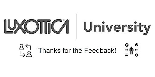 New York | Luxottica University | Thanks for the Feedback!