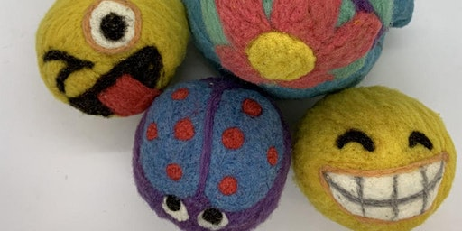 Decorative Felted Wool Dryer Ball Workshop