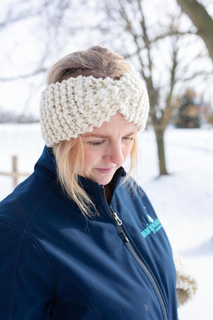 Beginner Headband Knitting Class image