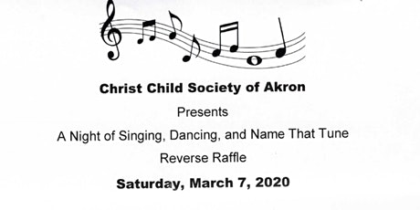 Christ Child Society of Akron REVERSE RAFFLE tickets