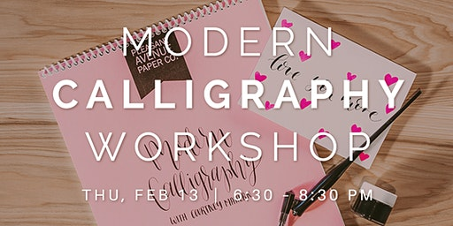 Modern Calligraphy Workshop with Pleasant Avenue Paper Co.