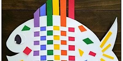 Nailsworth Library Rainbow Weaving Fish Crafts