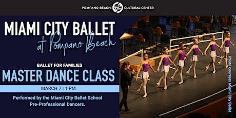 Miami City Ballet's COMMUNITY MASTER CLASS tickets