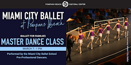 Miami City Ballet's COMMUNITY MASTER CLASS