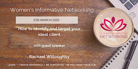 WIN Networking W Midlands - How to identify and target your ideal client tickets