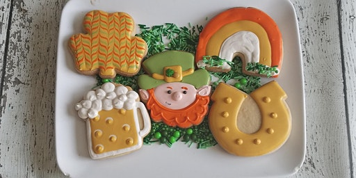 J&D Cellars St Patty Sip and Decorate cookie class