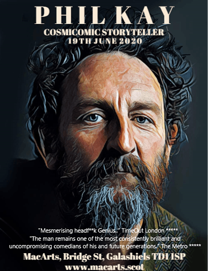 Phil Kay: Cosmicomic Storyteller  NEW DATE to be confirmed shortly image