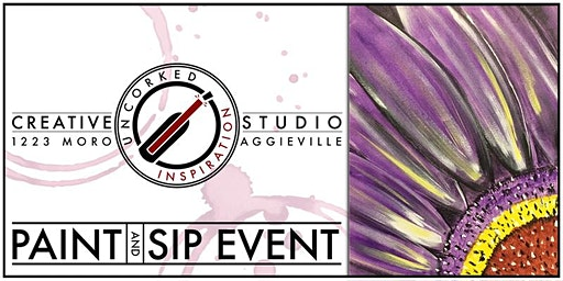 Paint & Sip | Purple Flower